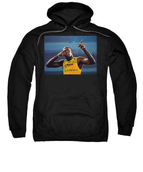 Usain Bolt Painting Sweatshirt