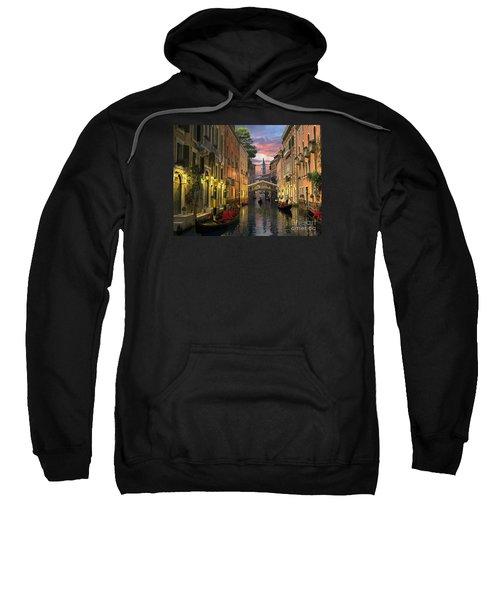 Venice At Dusk Sweatshirt by Dominic Davison