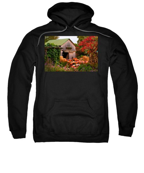 Vermont Pumpkins And Autumn Flowers Sweatshirt