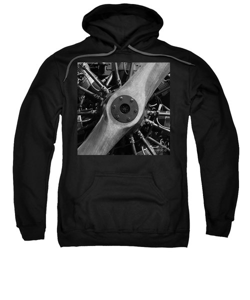 Vintage Wood Propeller - 7d15828 - Square - Black And White Sweatshirt