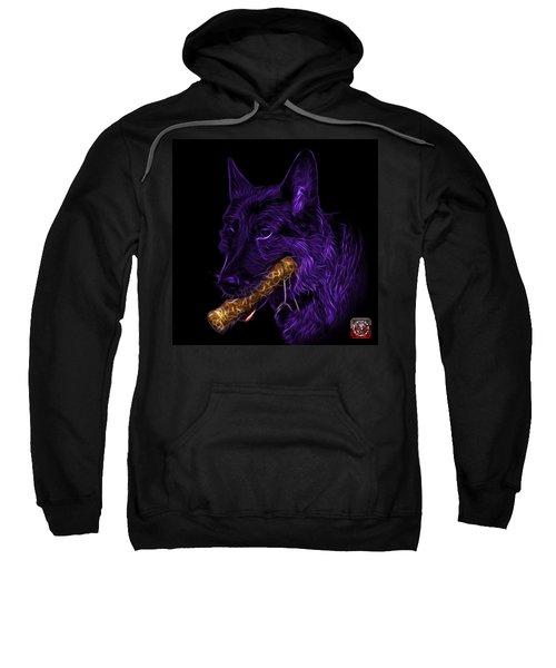 Violet German Shepherd And Toy - 0745 F Sweatshirt