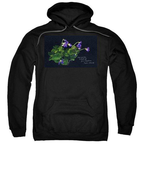 Violets And Psalm 104 Sweatshirt