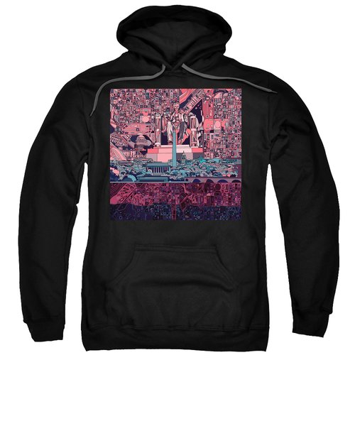 Washington Dc Skyline Abstract 2 Sweatshirt