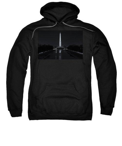 Washington Monument At Night Sweatshirt