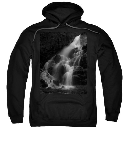 Waterfall In Black And White Sweatshirt