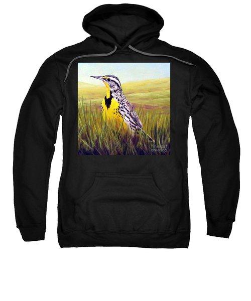 Western Meadowlark Sweatshirt by Tom Chapman