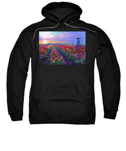 Tulip Fields, What Dreams May Come Sweatshirt