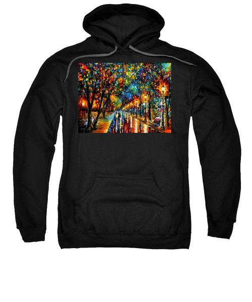 When Dreams Come True - Palette Knlfe Landscape Park Oil Painting On Canvas By Leonid Afremov Sweatshirt