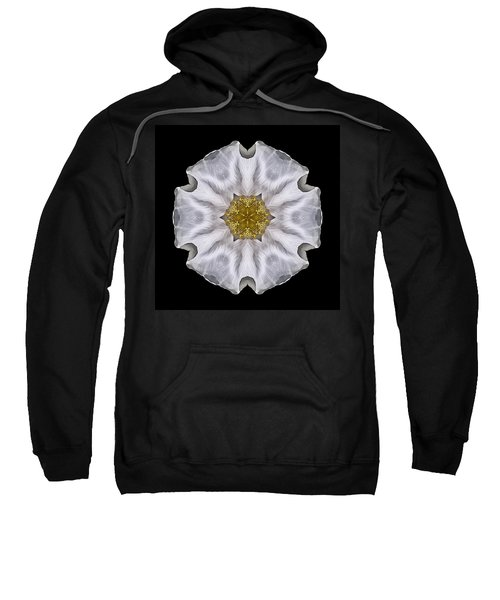 White Beach Rose I Flower Mandala Sweatshirt