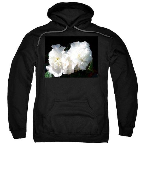 White Begonia  Sweatshirt