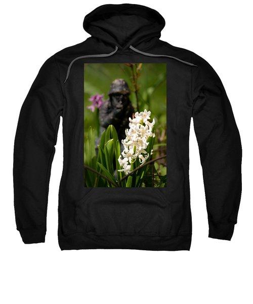 White Hyacinth In The Garden Sweatshirt