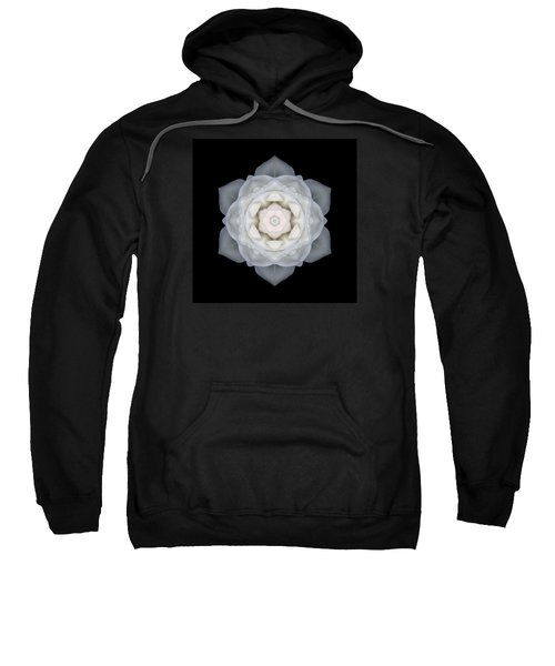 White Rose I Flower Mandala Sweatshirt