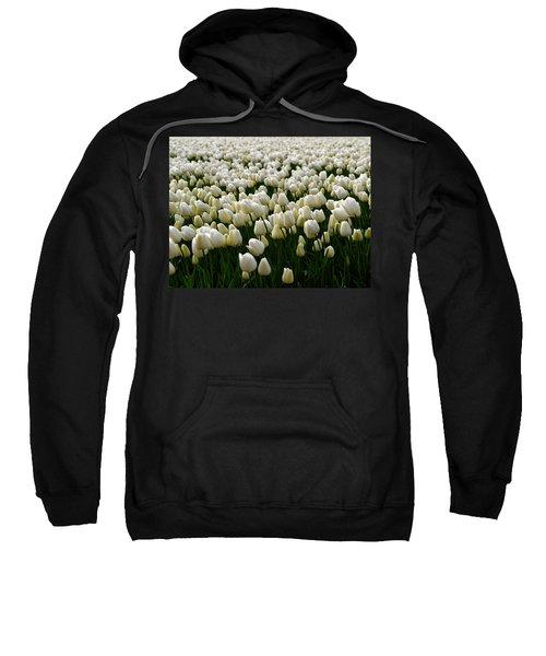 White Tulip Field  Sweatshirt