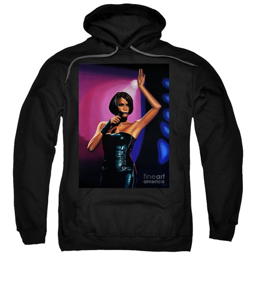 Whitney Houston On Stage Sweatshirt by Paul Meijering