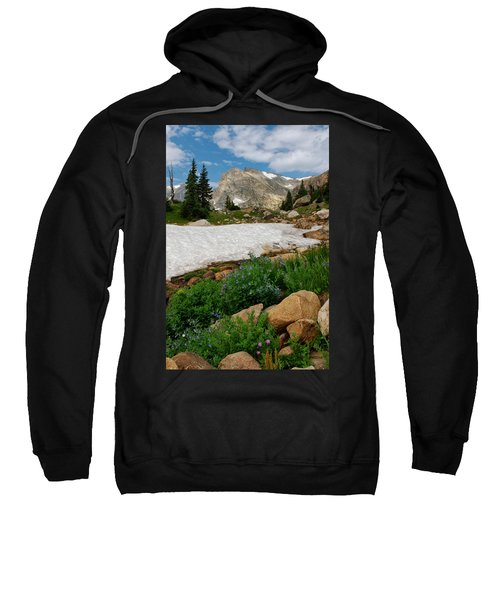Wildflowers In The Indian Peaks Wilderness Sweatshirt