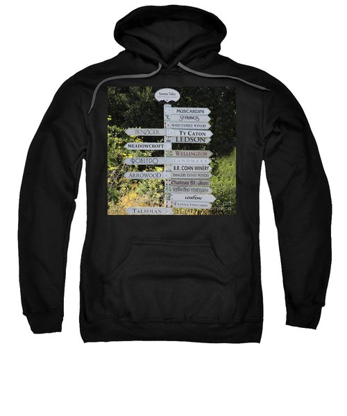 Winery Street Sign In The Sonoma California Wine Country 5d24601 Square Sweatshirt