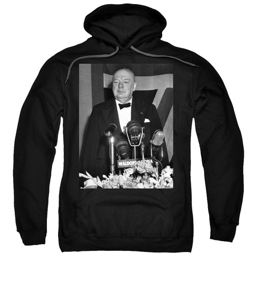 Winston Churchill Speaks Sweatshirt