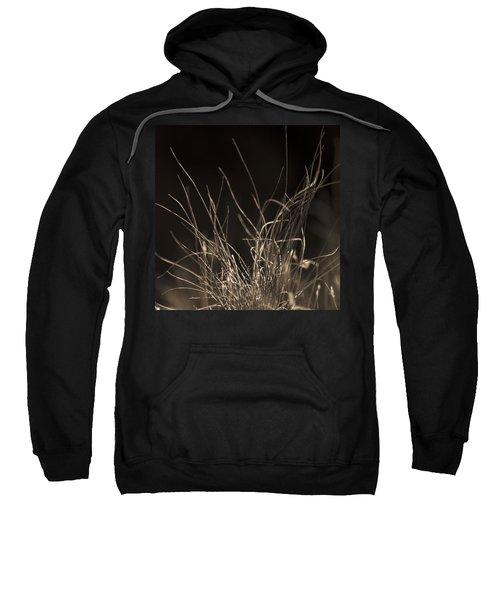 Sweatshirt featuring the photograph Winter Grass 2 by Yulia Kazansky