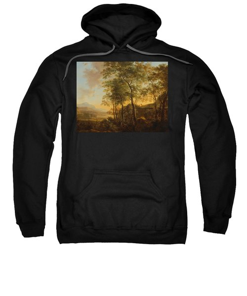 Wooded Hillside With A Vista Sweatshirt by Jan Both