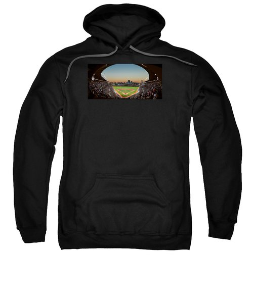 Wrigley Field Night Game Chicago Sweatshirt by Steve Gadomski
