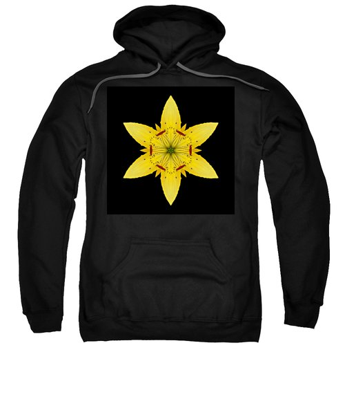 Yellow Lily I Flower Mandala Sweatshirt