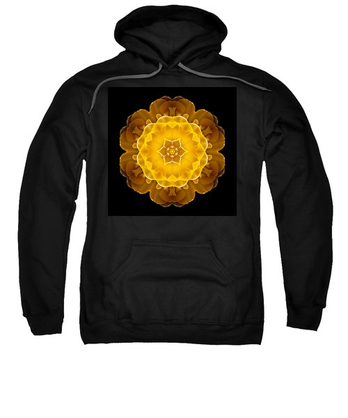 Yellow Tulip II Flower Mandala Sweatshirt