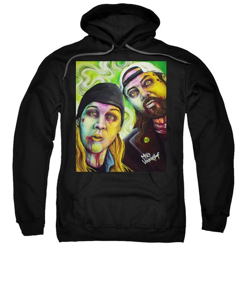 Zombie Jay And Silent Bob Sweatshirt by Mike Vanderhoof