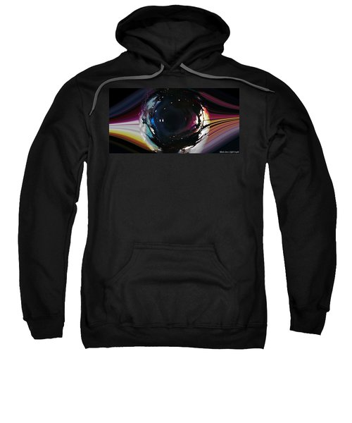 Sweatshirt featuring the digital art The Eye by Mihaela Stancu