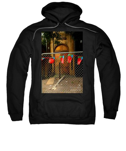 Sweatshirt featuring the photograph After The Quakes - No Go Zone by Nareeta Martin