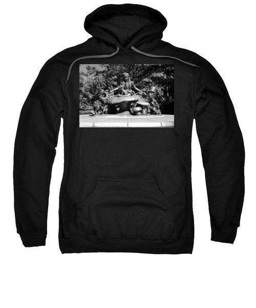 Alice In Wonderland In Central Park In Black And White Sweatshirt