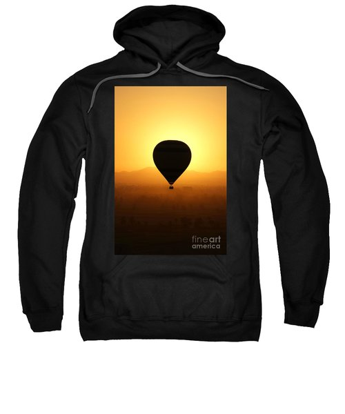 Balloon Over The Valley Of The Kings Sweatshirt