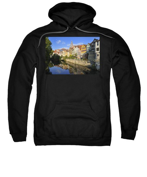 Beautiful German Town Tuebingen - Neckar Waterfront Sweatshirt
