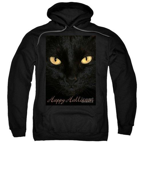 Black Cat Halloween Card Sweatshirt