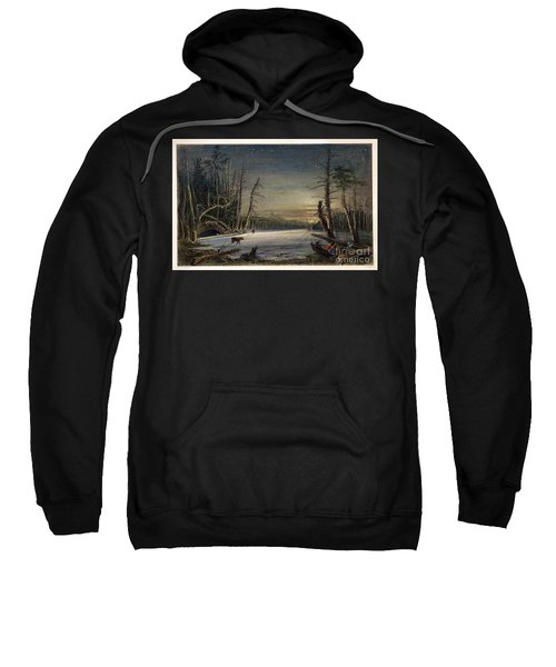 Catskill Winter Scene, 1839 Sweatshirt