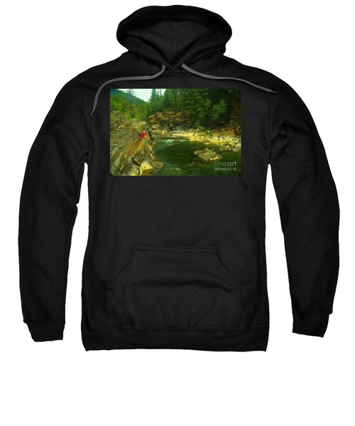 Cliff Over The Yak River Sweatshirt