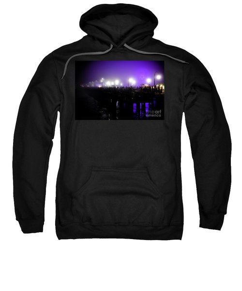 Cool Night At Santa Monica Pier Sweatshirt