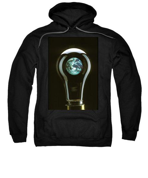 Earth In Light Bulb  Sweatshirt