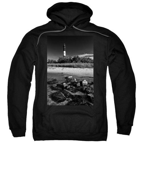 Fire Island In Black And White Sweatshirt