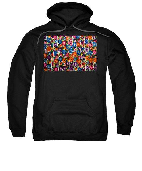 Floral Textile Sweatshirt