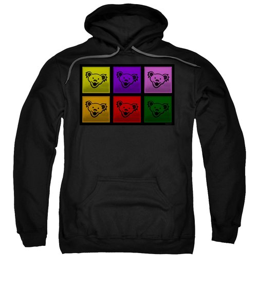 Greatful Dead Dancing Bears In Multi Colors Sweatshirt