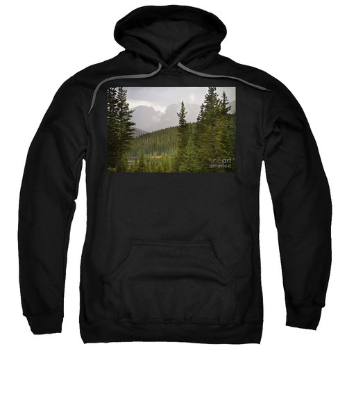 Indian Peaks Colorado Rocky Mountain Rainy View Sweatshirt