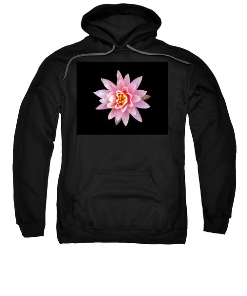 Lily On Black Sweatshirt by Bill Barber