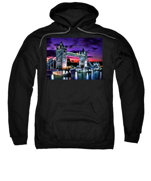 London Evening At Tower Bridge Sweatshirt