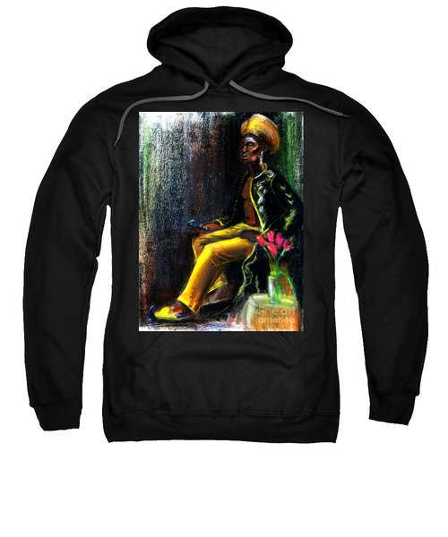 Sweatshirt featuring the drawing Odelisque by Gabrielle Wilson-Sealy