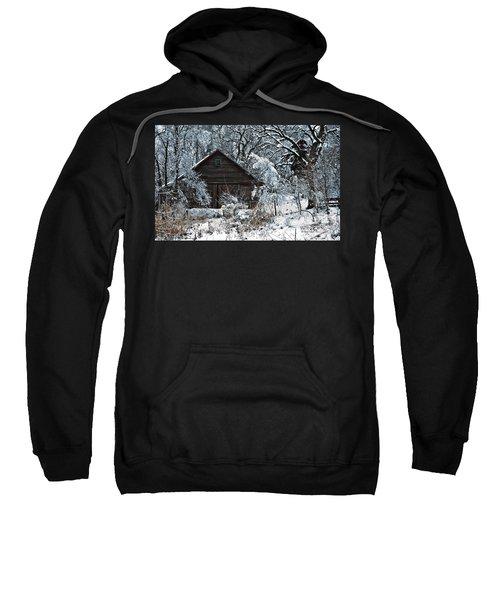 Snow Covered Barn Sweatshirt