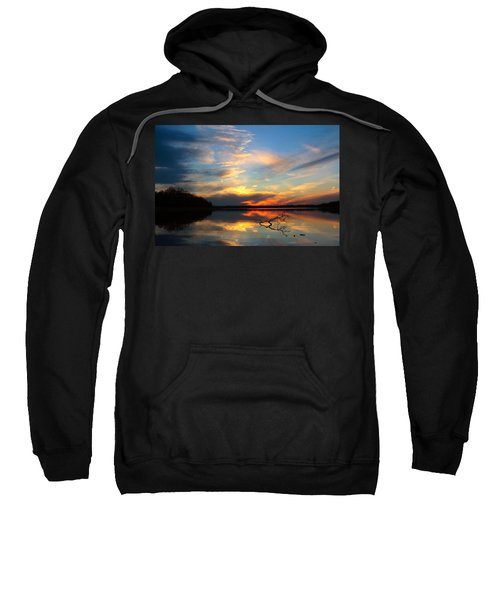 Sunset Over Calm Lake Sweatshirt