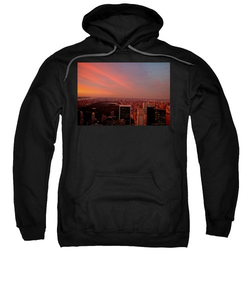 Sunset Over Central Park And The New York City Skyline Sweatshirt