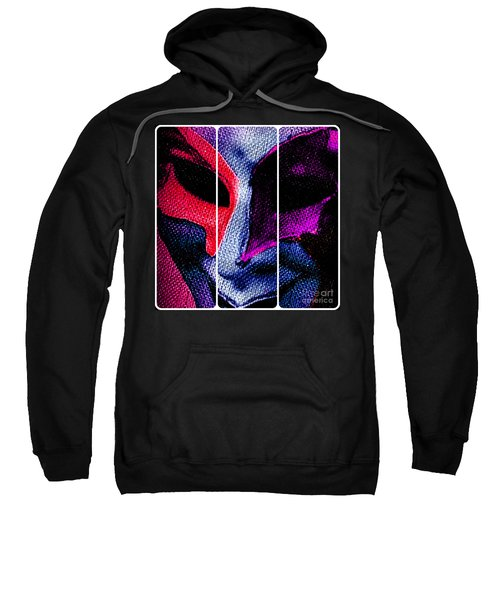 The Masks We Hide Behind Tryptic Print Sweatshirt