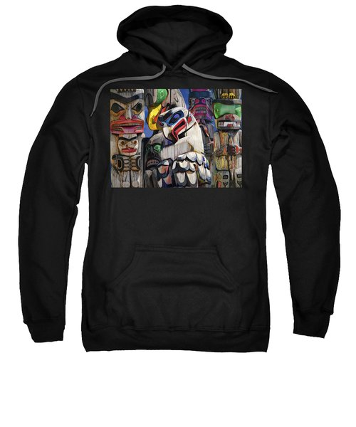 Totem Poles In The Pacific Northwest Sweatshirt