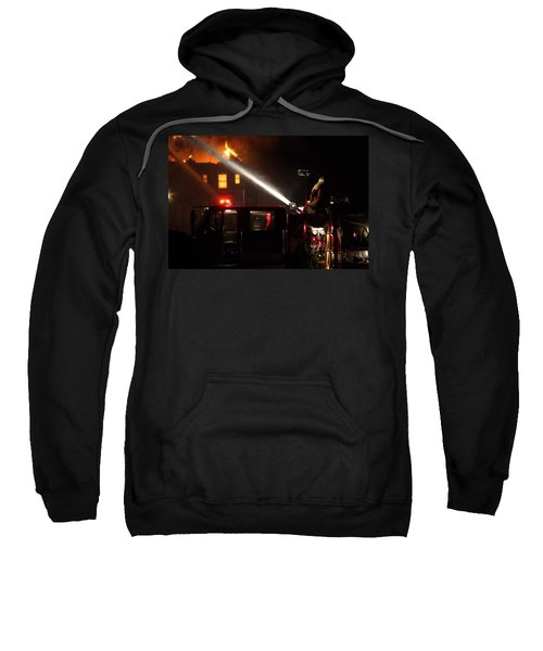 Water On The Fire From Pumper Truck Sweatshirt